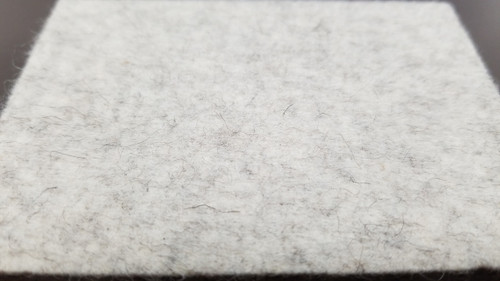 "26 Lb. Sheet Felt, Light Heather Grey, 1/2"" thick x 36"" x 36"" - $74.00 per sheet"