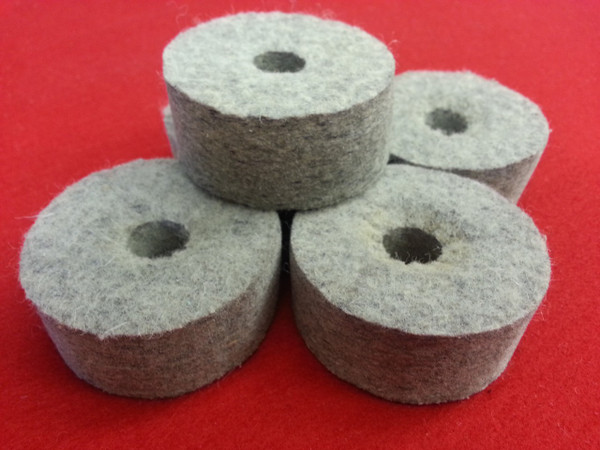 "High Quality Wool Felt Burnishing Wheel  1"" Thick (Set of 5)"