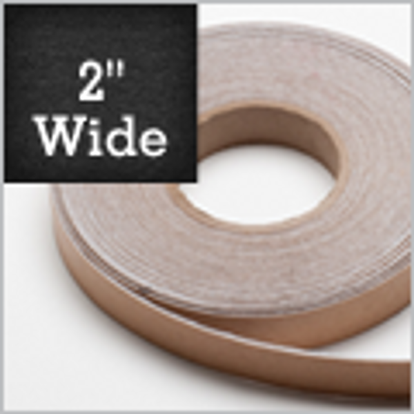 """Adhesive Backed White Polyester Felt Tape - 2"""" wide x  100 feet long x 1mm thick.  $26.33 Each"""