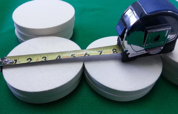 "15pcs - F1 Wool Felt Circles - 5.5"" Diameter X 3/4"" Thick - (Quantity - 15)  $19.99 For all of them!"