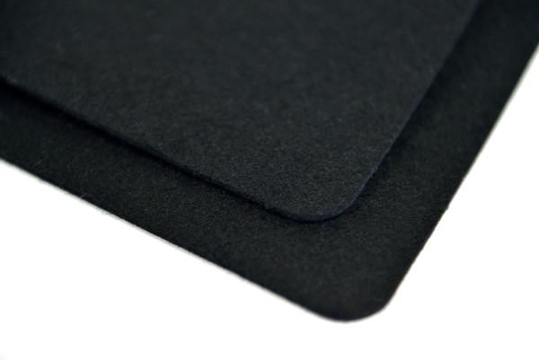 """Black F-1 Wool Felt, 1/16"""" Thick x 60"""" Wide - 2 Yard Minimum"""