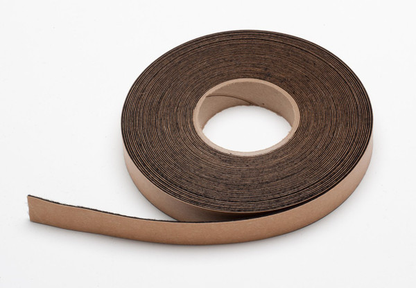 """Black Felt Stripping, Adhesive Backed 3"""" Wide x .5mm (.02"""") Thick, 50' Roll"""