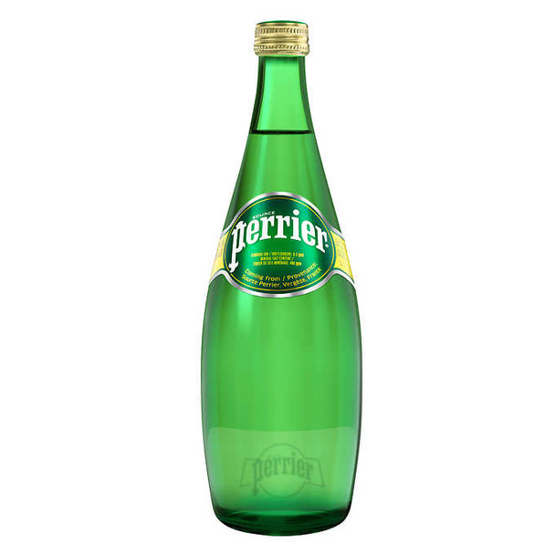 Perrier Mineral Water 750ml Glass Bottle