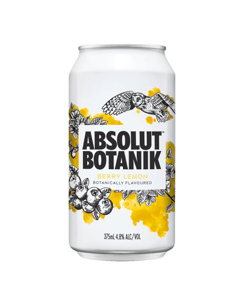 Absolut Berry Lemon Can 375ml