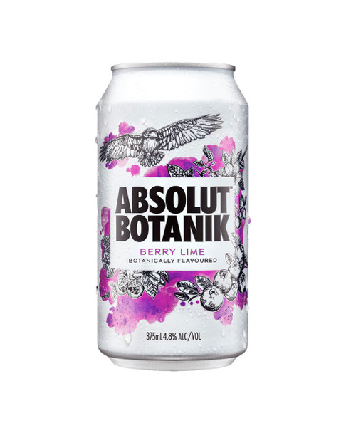 Absolut Berry Lime Can 375ml