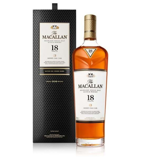Macallan 18 Year Old Sherry Oak 700ml
