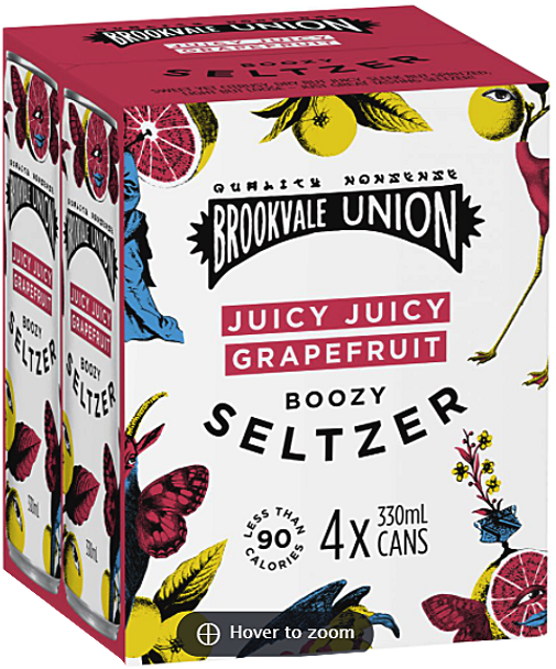 Brookvale Union Juicy Grapefruit Seltzer Can 330mL