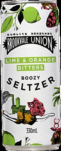 Brookvale Union Lime & Orange Bitters Boozy Seltzer