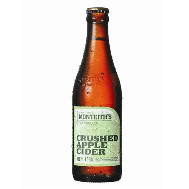 Monteith's Crushed Apple Cider - 4 Pack