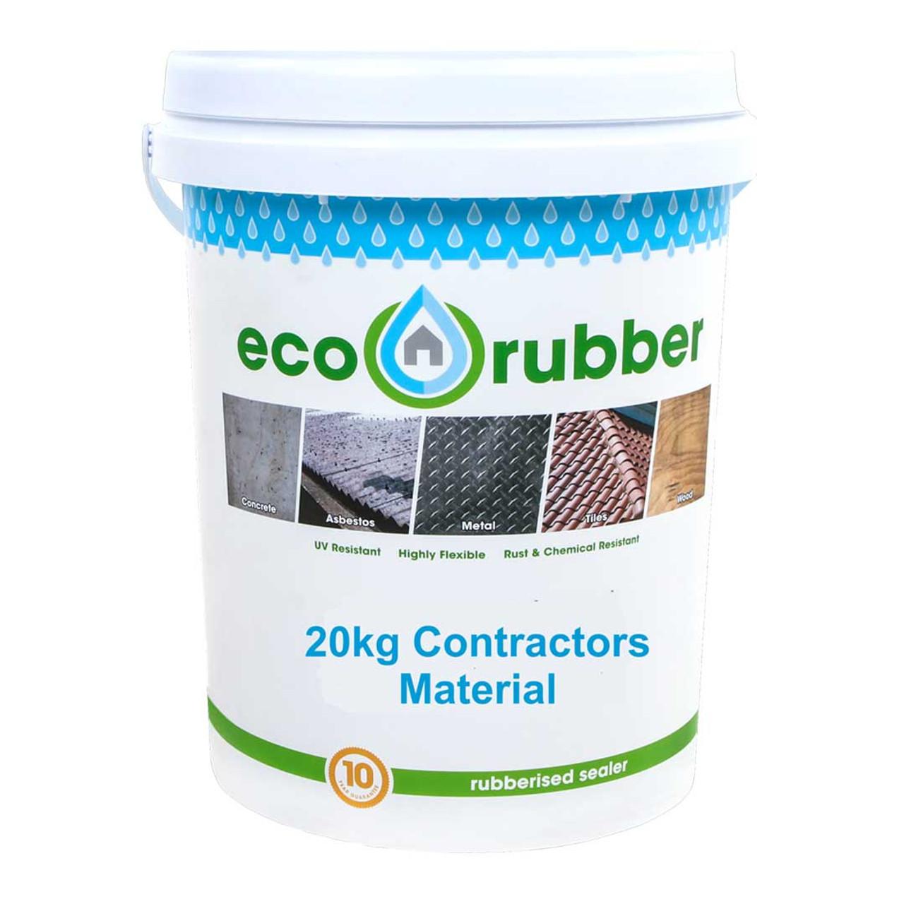 Eco Rubber Contractor 20kg - Black
