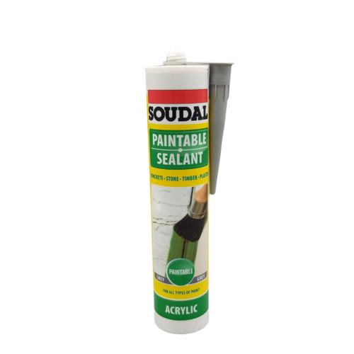Soudal Paintable Sealant - Grey 270ml
