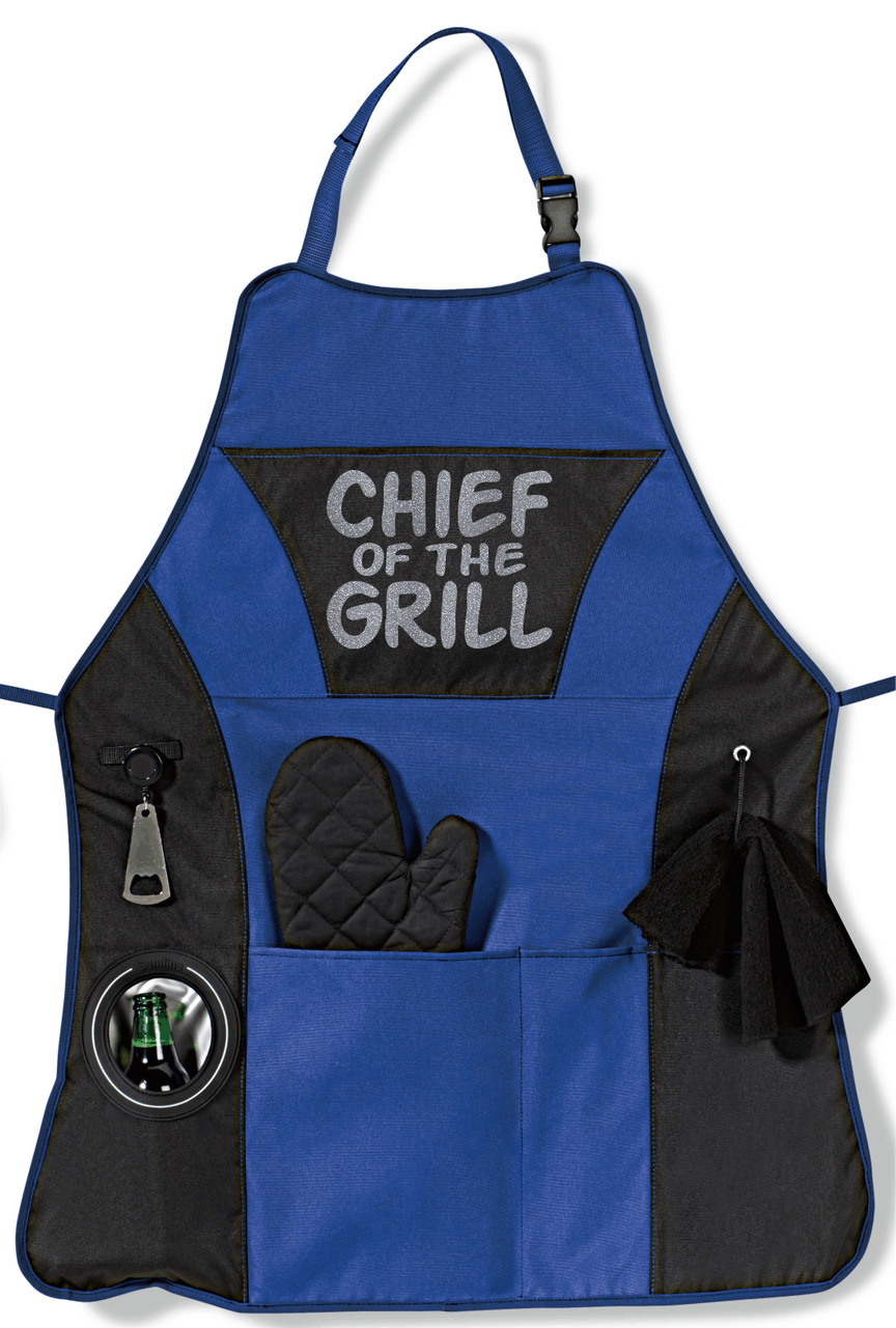 Royal Blue BBQ Apron