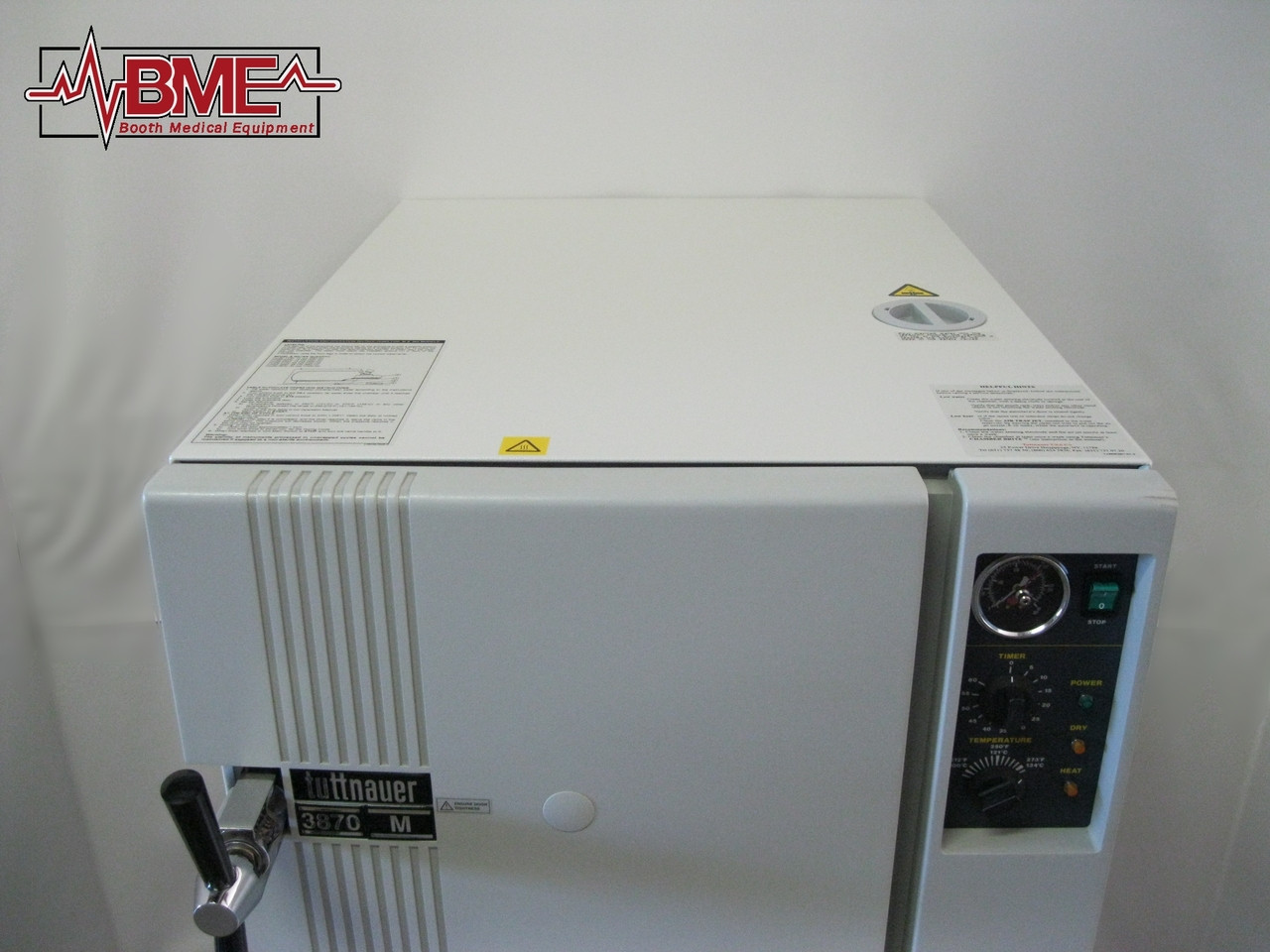 Booth Medical - Tuttnauer 3850M 230V Autoclave - Top