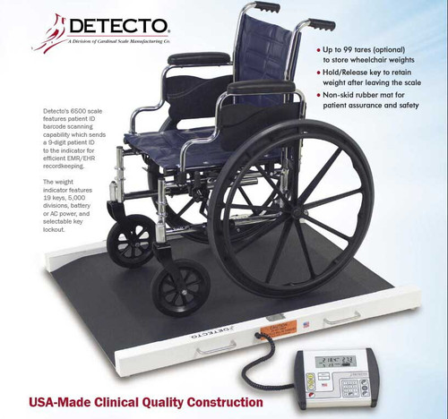 Detecto 6500 Wheelchair Scale