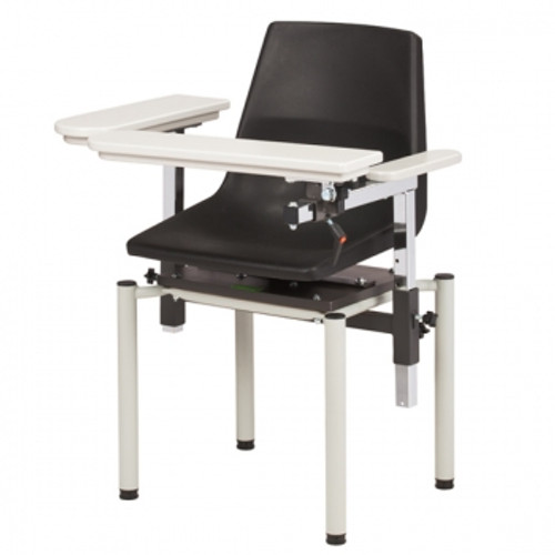 Clinton EZ-Clean Blood Drawing Chair - 6049 - Booth Medical