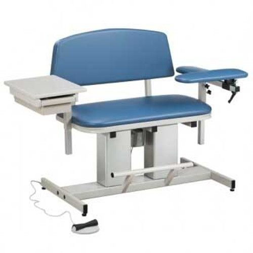 Clinton Bariatric Power Blood Drawing Chair - With Drawer - Booth Medical