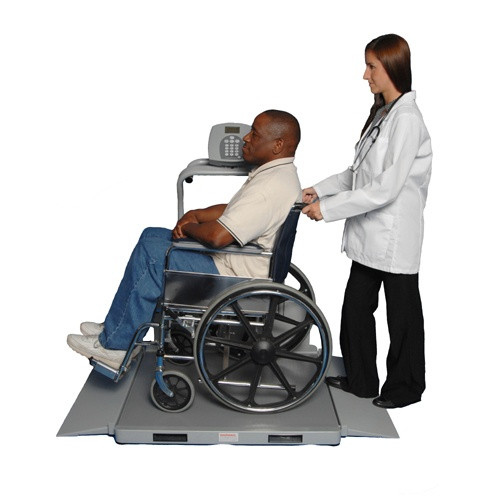 Health o meter 2610kl wheelchair scale in use