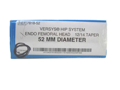 Booth Medical - Versys Hip System, Endo Femoral Head, 52mm - 7818-52