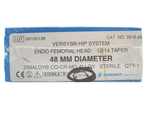 Booth Medical -  Versys Hip System, Endo Femoral Head, 48mm - 7818-48
