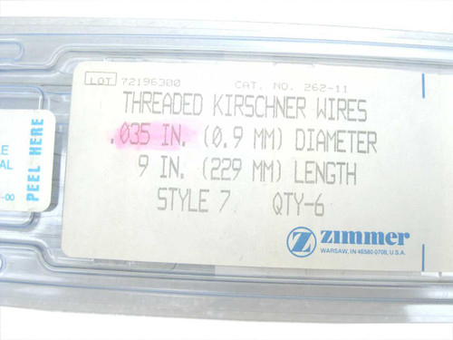 Booth Medical - Kirschner Wires, Threaded, 1/32 Dia x 9 Long, Style 7 - 262-11