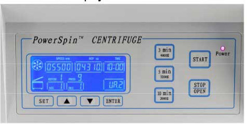 Unico PowerSpin DXB Centrifuge Oversized Display -  C8763/C8764