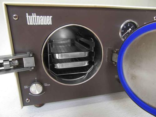 Tuttnauer 1730m refurbished autoclave - door open