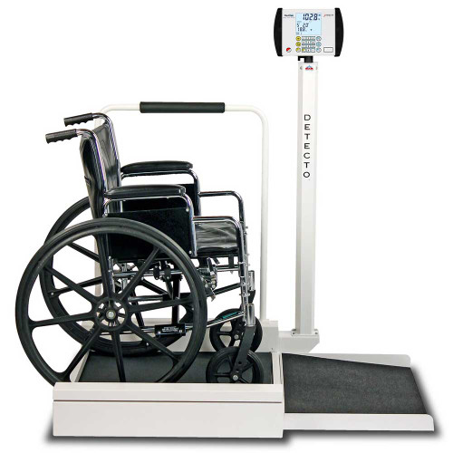 Detecto 6495 Stationary Heavy-duty wheelchair scale - Booth Medical