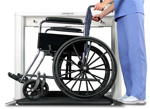 Detecto 7550 Wall-Mount Wheelchair Scale - Booth Medical