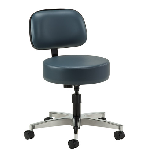 2150 -21  Clinton Stool, Spin Lift  Medical Stool With Backrest