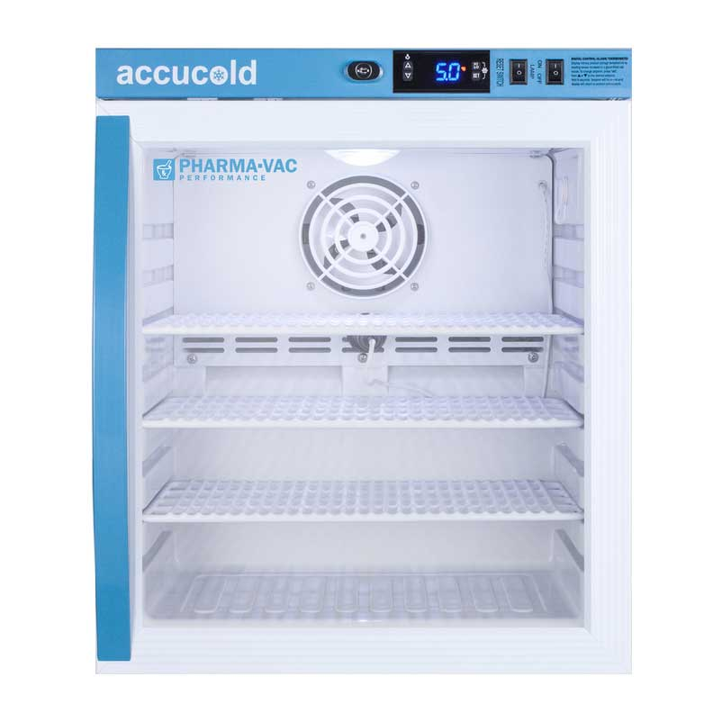 Accucold Pharma-Vac Vaccine Refrigerator - Glass door