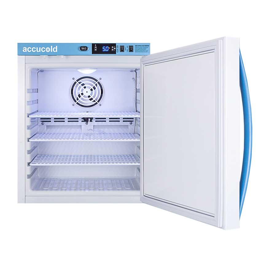Accucold Pharma-Vac Vaccine Refrigerator - Solid door open