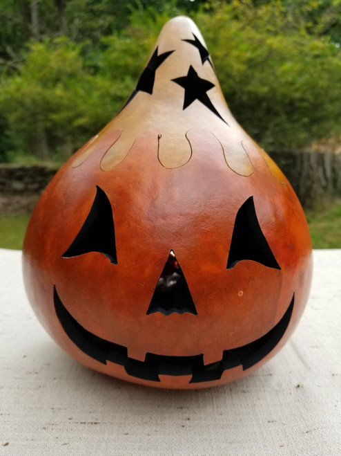 Jack O'Lantern with Brown Top - #8