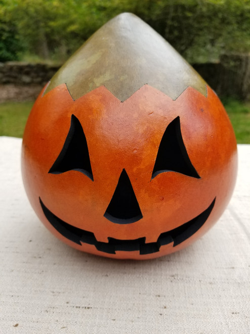 Jack O'Lantern with Plain Green Top - #9