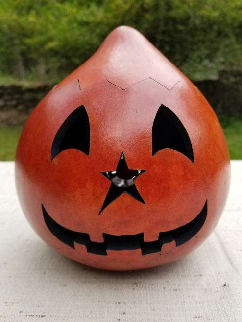 Jack O'Lantern with Plain Orange Top - #10