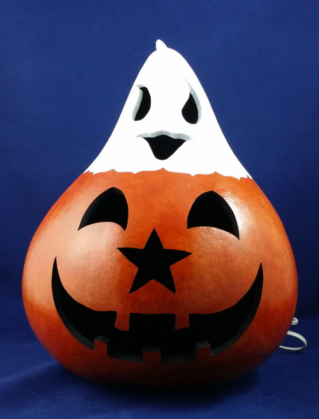Jack O'Lantern with Ghost