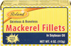 Roland Mackerel Fillets In Oil 4oz. (113g)