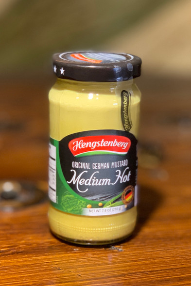 Hengstenberg Medium Hot Mustard 7.4oz