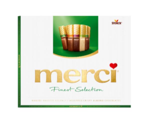 Merci Finest Assortment of Chocolates w/ Almonds 8.8oz. (250g)