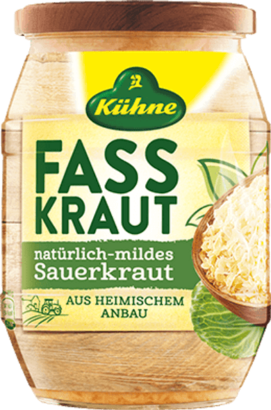 Kuhne Fasskraut Natural Mind Sauerkraut 24.3oz (720ml)