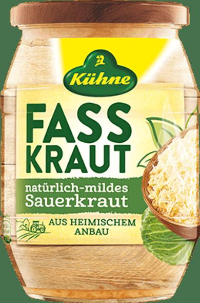 Kuhne Fasskraut Natural Mind Sauerkraut 24.3oz (720ml)