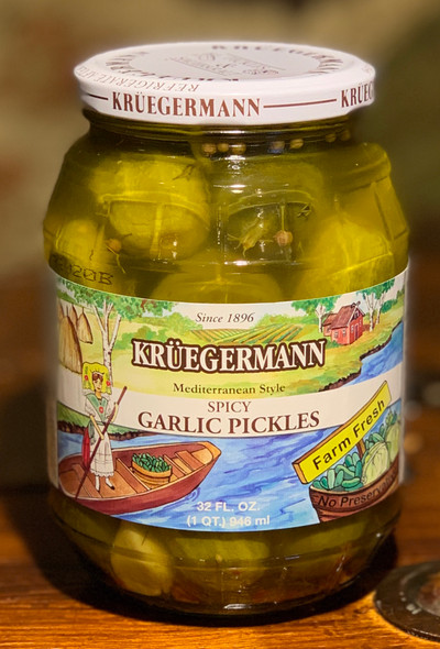 Kruegermann Spicy Garlic Pickles - 32floz