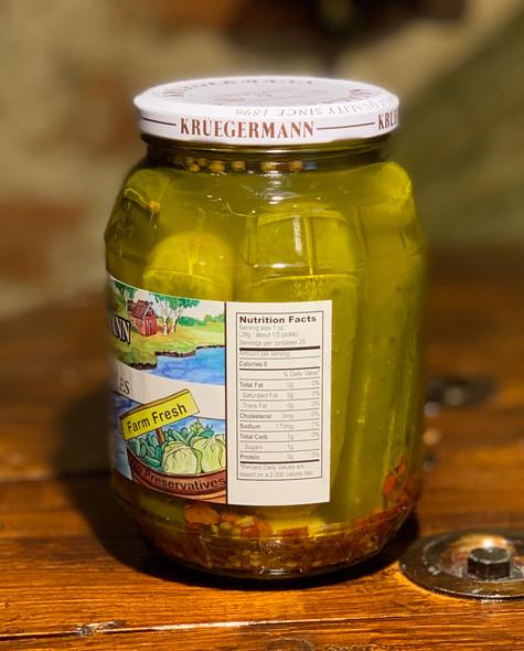 Kruegermann Spicy Garlic Pickles - 32floz