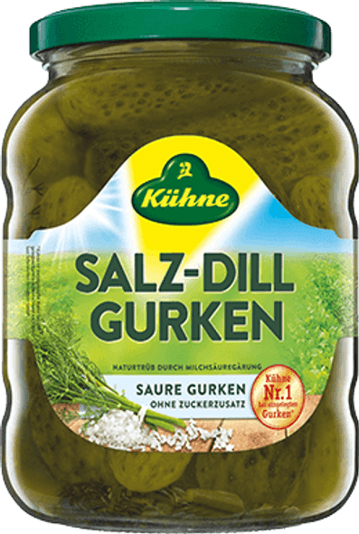 Kuhne Salz-Dill Gurken 750ml
