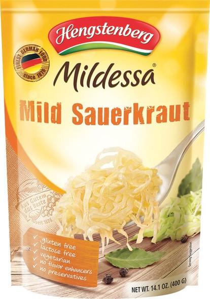 Hengstenberg Mild German Sauerkraut Mildessa Pouch 14.1oz