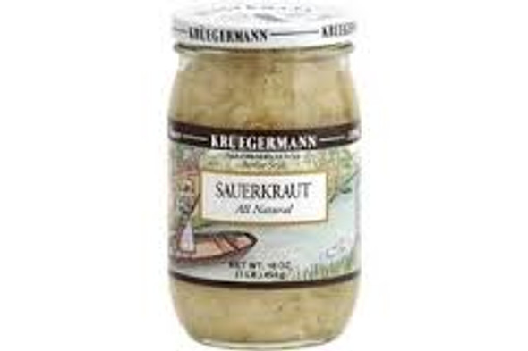 Kruegermann Berlin Style Sauerkraut All Natural 16oz