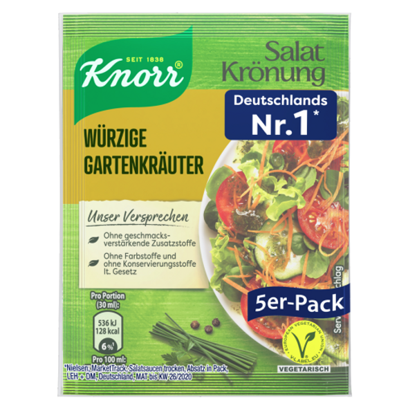 Knorr Salat Wurzige Garten-Krauter (5 pack)