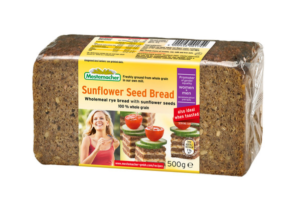 Mestemacher Natural Sunflower Seed Bread 17.6oz