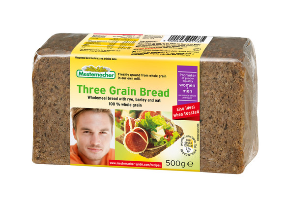 Mestemacher Natural Three Grain Bread 17.6oz