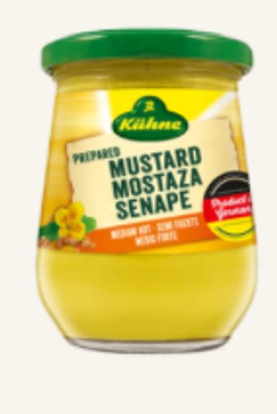 Kuhne Senf Mittelscharf 250ml