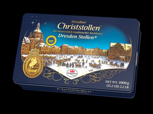 Dr. Quendt Christstollen Tin 1000g
